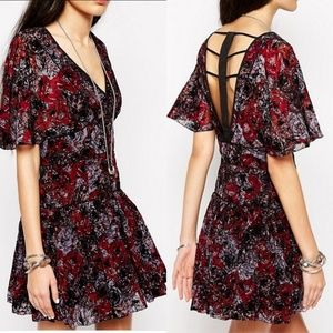 Free People Perfect Dream Floral Cage Back Dress